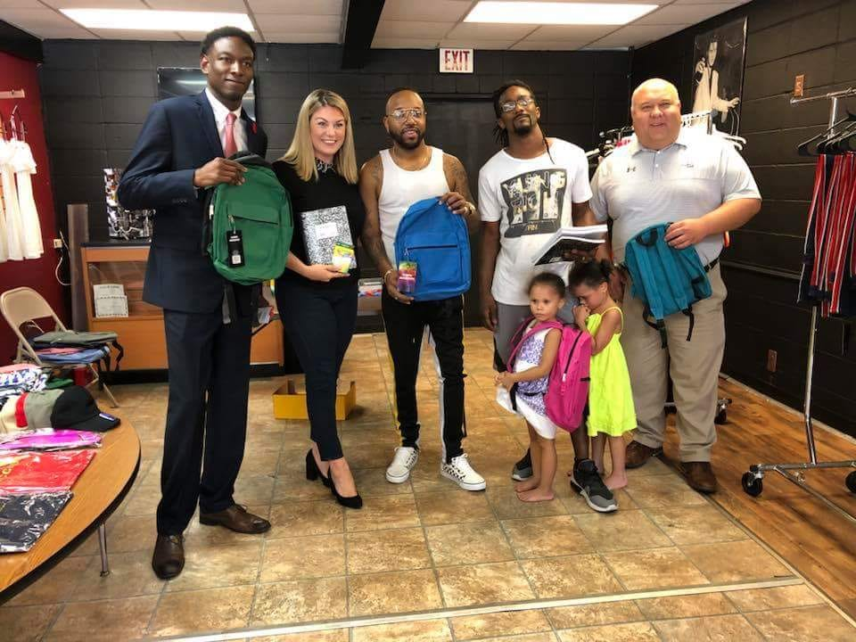 Jeremy Gray,Mallory Hytes Hagan, and our very own MayorF.L. Bubba Copelandfor supportingRoyal Threads2nd Annual#back2schoolgiveaway